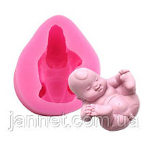 """Молд кондитерський силіконовий """"Немовля"""" - (висота 3,5 см, довжина 7см, ширина 5,5 см)"""