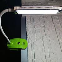 Настольная переносная LED лампа прищепка Светильник YJ-5868 T Yajia с солнечной батареей