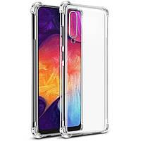 Противоударный силиконовый чехол Shock Samsung Galaxy A30s (2019) Прозрачный