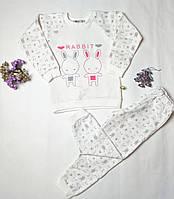 """Пижама для девочки с начесом """" Зайчик"""" 20451, фото 1"""