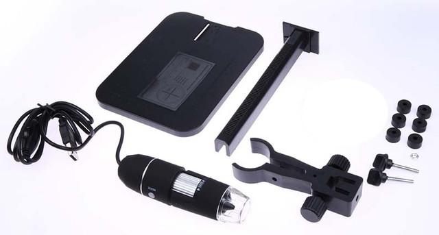 Цифровой USB микроскоп 1000Х на штативе