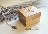 Деревянная шкатулка коробочка футляр для крестика