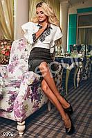 Комбинированное праздничное платье Gepur 9396