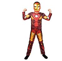 Костюм карнавальный Железного человека с мышцами 1-9 лет (С, М, Л), без маски