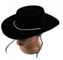 Шляпа детская Ковбой флок черная