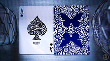 Карти гральні | Butterfly Playing Cards Marked (Blue) 2nd Edition, фото 3