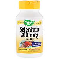 Селен (Selenium), Nature's Way, 200 мкг, 100 капсул