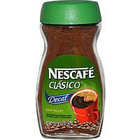 Nescafe, Clasico, Растворимый кофе без кофеина темной обжарки, 7 унций (200 г)