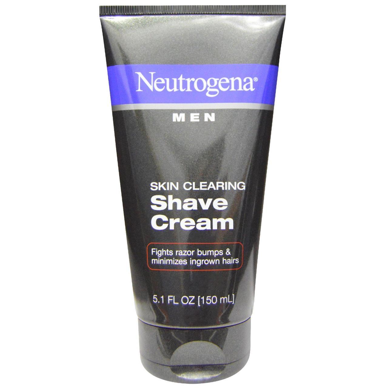 Neutrogena, Очищення шкіри, чоловічий крем для гоління, 5,1 рідких унцій (150 мл)