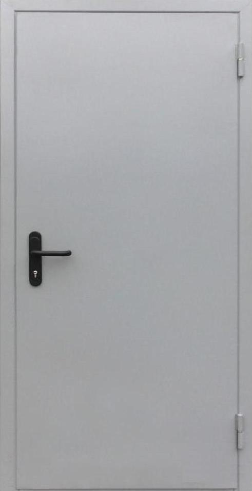 Противопожарные полуторные входные двери EI-30 серые (RAL 7035) в коридор и тамбур