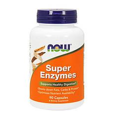 Ферменты энзимы Now Foods Super Enzymes (90 капс) нау фудс
