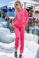 Яркий велюровый костюм Gepur 12836