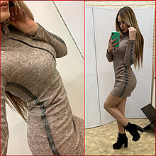 "Платье ""Zmeyka"" с лампасами / пудра"