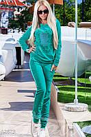 Мягкий велюровый костюм Gepur 12873