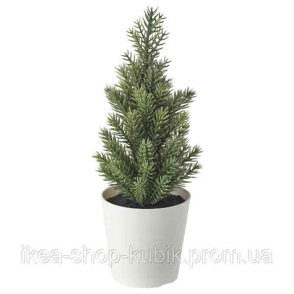 ИКЕА ВИНТЕРФЕСТ Искусственное растение и кашпо, рождественская елка, 6 см