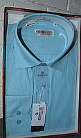 Мужская классическая бирюзовая рубашка FERRERO GIZZI (размер 39,41,42,45)