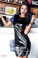 Стильное кожаное платье Gepur 13934, фото 1
