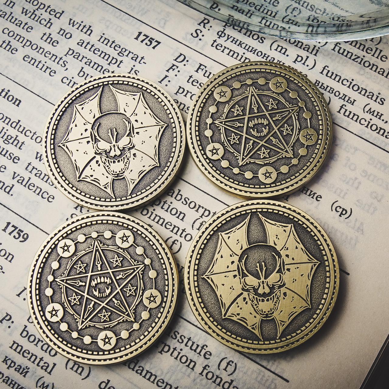 Реквизит для фокусов   Coin Skull by TCC