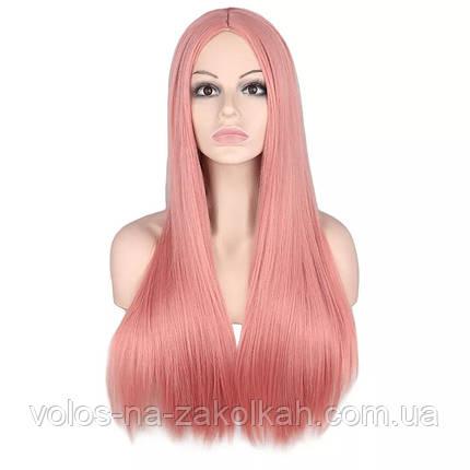 Парик розовый пудровый, фото 2