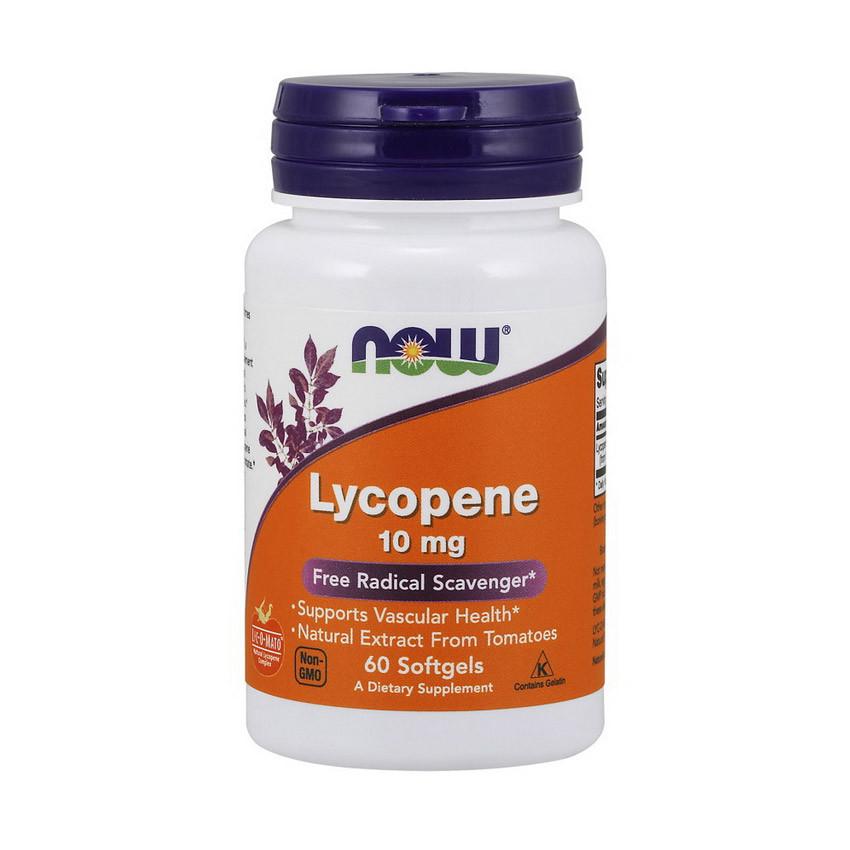 Ликопин Now Foods Lycopene 10 mg (60 капс) нау фудс