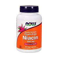 Витмины NOW Flush-Free Niacin 500 мг Double Strength (90 капс) нов флюш-фри ниацин дабл стрэндж
