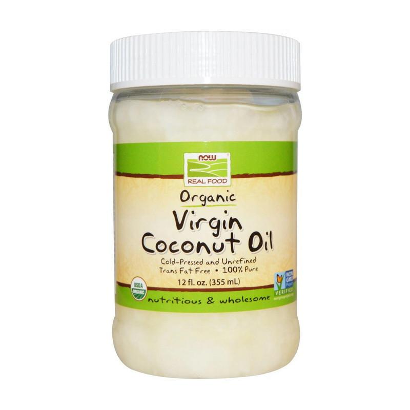 Органическое кокосовое масло Now Foods Foods Organic Virgin Coconut Oil Natural (355 мл) нау фудс