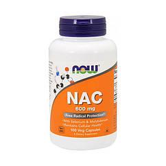 N-ацетилцистеин Now Foods NAC 600 mg (100 капс) нау фудс