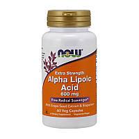 Альфа-липоевая кислота Now Foods Alpha Lipoic Acid 600 mg Extra Strength (60 капсул) нау фудс