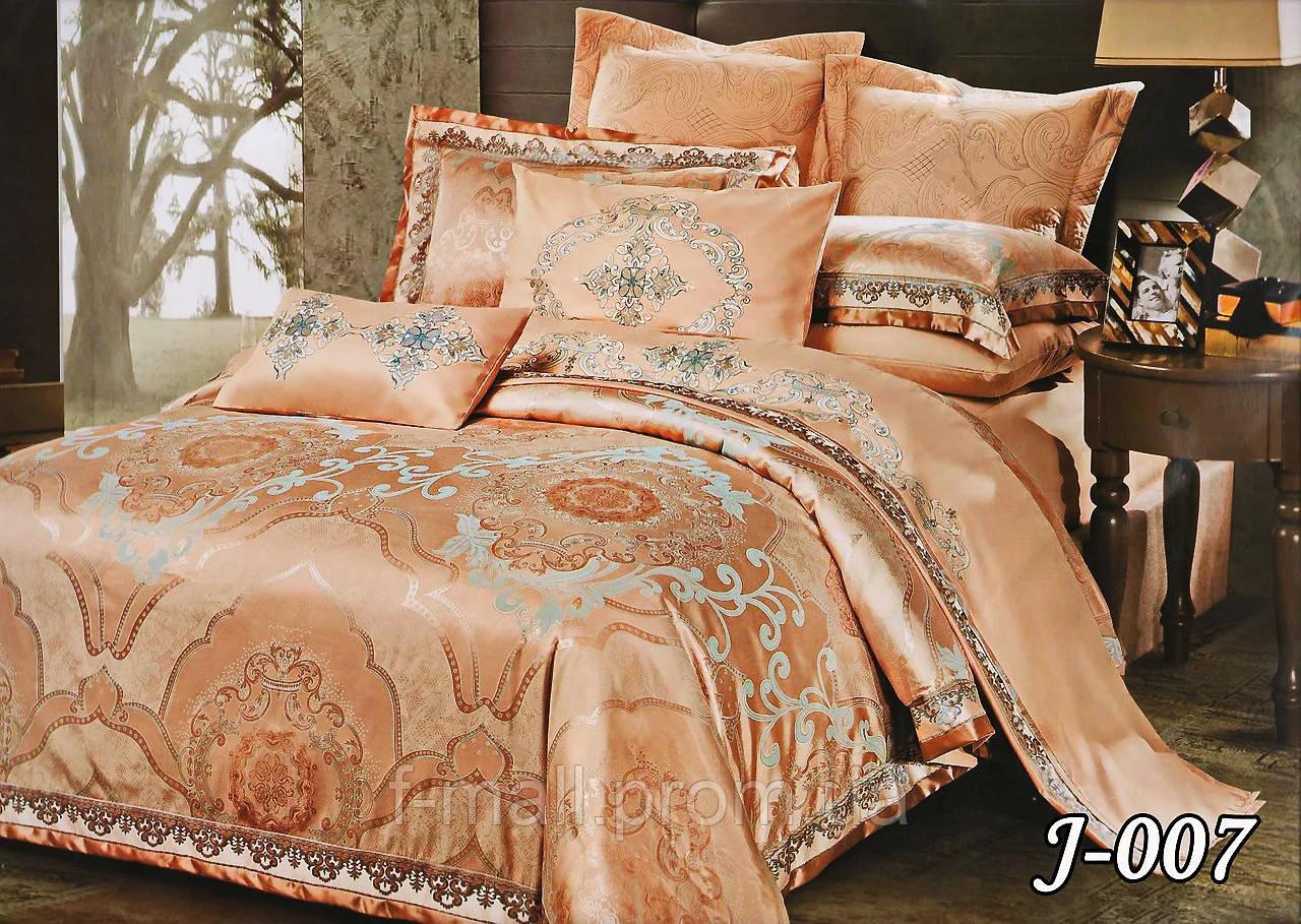 Комплект постельного белья из жаккарда  ТМ Тет-А-Тет (Украина)  Евро  (J-007)