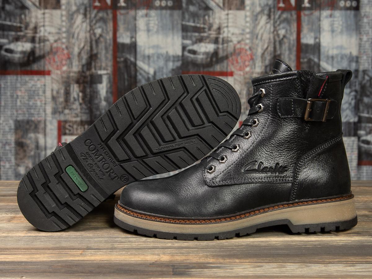 Зимние мужские ботинки 31101, Clarks Comfort, черные , ( в наличии 40 41 45 )
