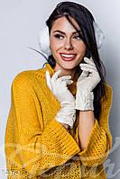Теплые трикотажные перчатки Gepur 14164