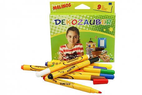 Фломастеры для декорирования MALINOS Dekozauber нестираемые 9 (8+1) шт, фото 2