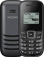 "Мобильный телефон Nomi i144m Dual Sim Black; 1.44"" (96х68) TN / клавиатурный моноблок / SC6531E / ОЗУ 32 МБ / 32 МБ встроенной + microSD до 32 ГБ /"