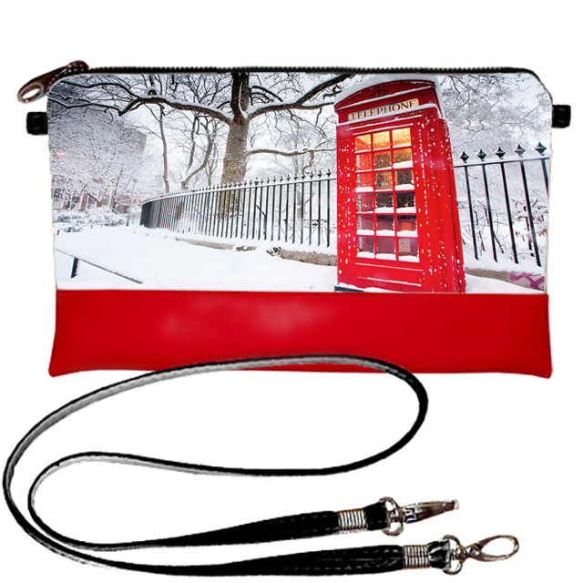 Стильный женский клатч с прином Зима в Лондоне