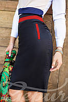 Контрастная юбка-карандаш Gepur 13452