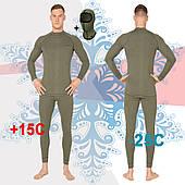 Повседневный термокомплект мужской Radical Hunter с балаклавой, хаки L