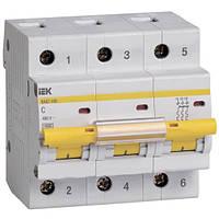 Автоматичний вимикач ВА47-100 3P-С 100A 10кА ІЕК
