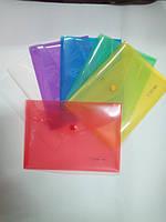 Папка конверт пластиковая на кнопке А5