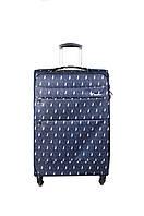 Средний облегченный чемодан  на 4х колесах three birds