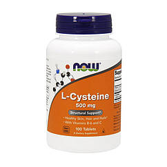 L-цистеин Now Foods L-Cysteine 500 mg (100 таб) нау фудс