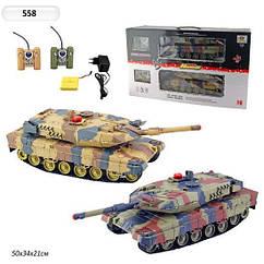 Танковый бой р/у 1:24 HuanQi 558 на радиоуправлении, подарок для ребенка