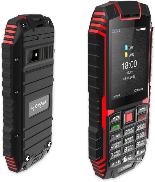 Мобільний телефон Sigma mobile X-treme DT68 Black/Red