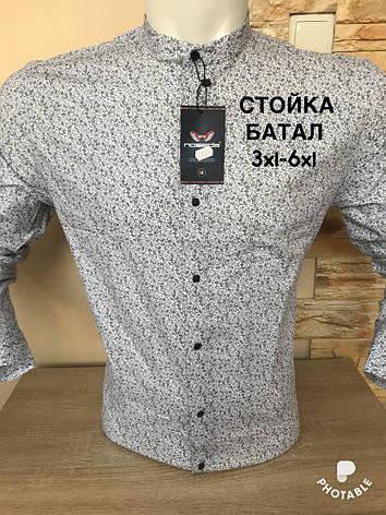 Батальная рубашка Noseda  стойка с принтом, фото 2
