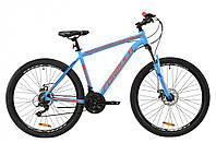 """Велосипед горный мужской 27.5"""" Formula Thor 1.0 2020 алюминиевая рама 19"""" сине-оранжевый"""