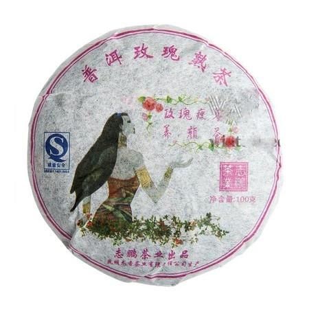 Пуэр Бин Ча с розой Блин 100 г