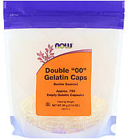 "Пустые капсулы ""00"", Double ""00"" Gelatin Caps, Now Foods, 750 капсул"