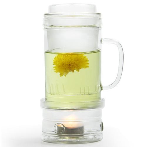 Кружка-глек скляний з пальником Chi Kao 400 мл (101AB)