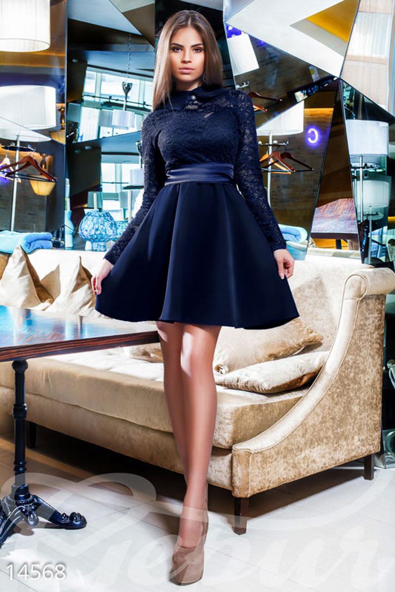 Нежное гипюровое платье Gepur 14568
