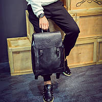 Мужской кожаный черный коричневый городской рюкзак рань мужская сумка