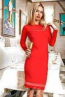Яркое трикотажное платье Gepur 15009